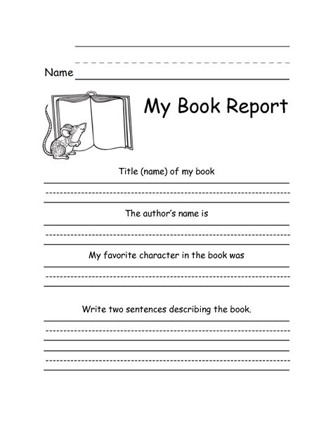 book report template 3rd grade 7 best images of third grade book report printable 3rd