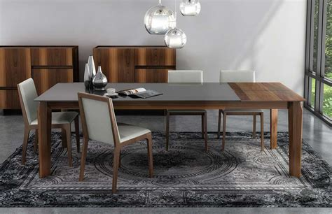 magnolia extendable glass table 5089e up line by huppe