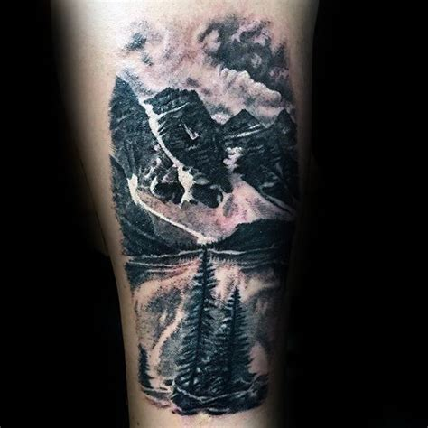 mountain landscape tattoo 90 landscape tattoos for scenic design ideas