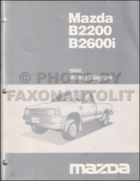 1990 mazda b2200 b2600i pickup truck repair shop manual