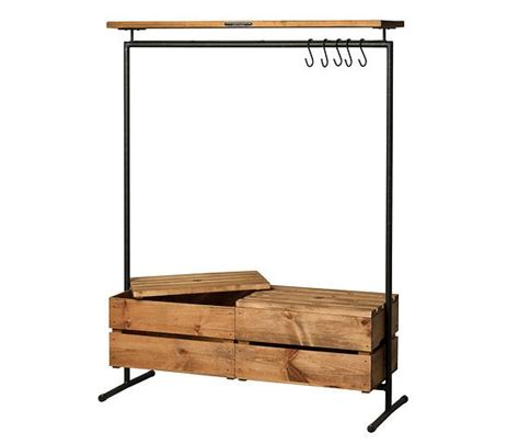 clothes rack with drawers noodles noodles clothing rack 2 wood boxes f u r n i