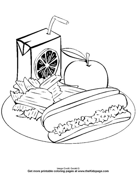 free coloring pages of a lunch box