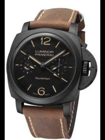 Luminor Panerai Turbilon Angka Black 1 panerai luminor 1950 tourbillon gmt ceramica ceramic pam396