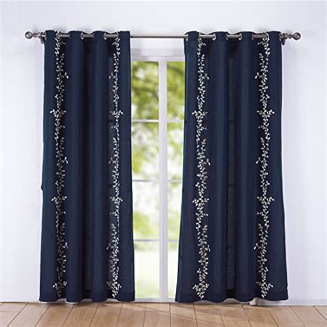 rattan curtains puredown decorative embroidered canvas grommet window