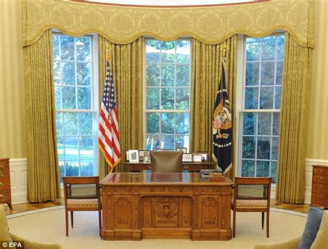 White House Drapes | golden curtains for the oval office how jacqueline