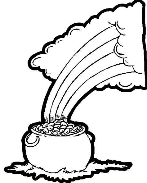 pot of gold coloring pages kids world