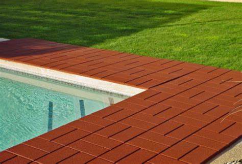 Patio Deck Tiles Rubber by Recycled Rubber Paver Tile Safety Concepts