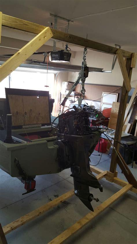 jon boat outboard motor outboard motor hoist jon boat pinterest motors