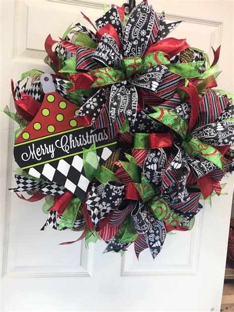 front door wreath wreath  christmas  door wreath