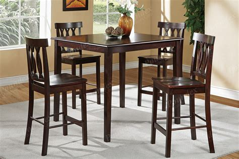 Dining Table Chair Set High Dining Tables And Chairs Marceladick