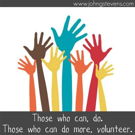 volunteer service those who can do those who can do more volunteer