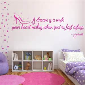 Cinderella Wall Stickers Cinderella Wall Sticker Quote Wall Art