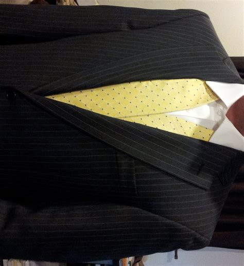 which tie is most appropriate with this grey pinstripe