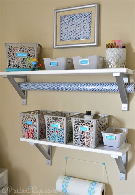 Craft Shelf by Craft Room Guest Room Combo Room Reveal Part 1