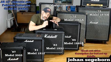 marshall mx212 2x12 guitar speaker 7 marshall speaker comparison shootout youtube