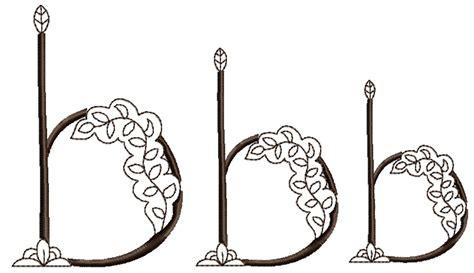 henna design font mehndi style font letter b