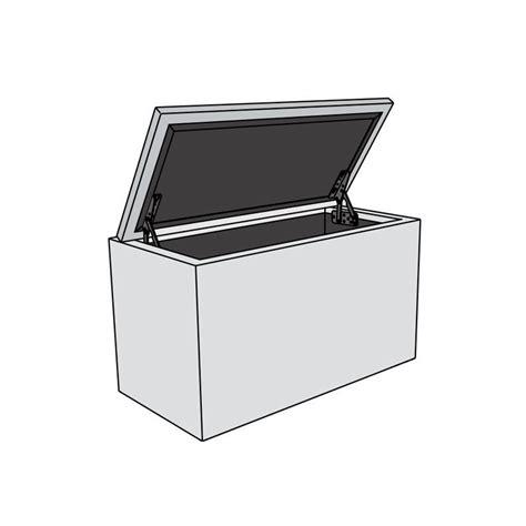 pouf banc coffre boite de rangement 120cm the box