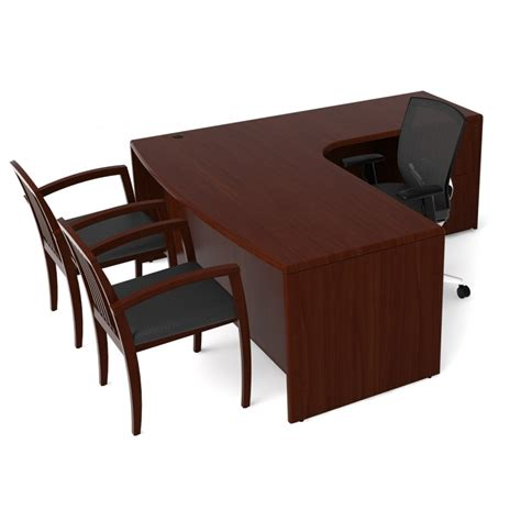 veneer l shape desk