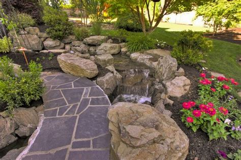 Garden Rock Features Rock Garden Design Ideas To Create A And Organic Landscape