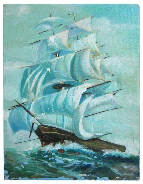 Painting M D F by Vintage Ship Scrap Bilder M M Inspiration
