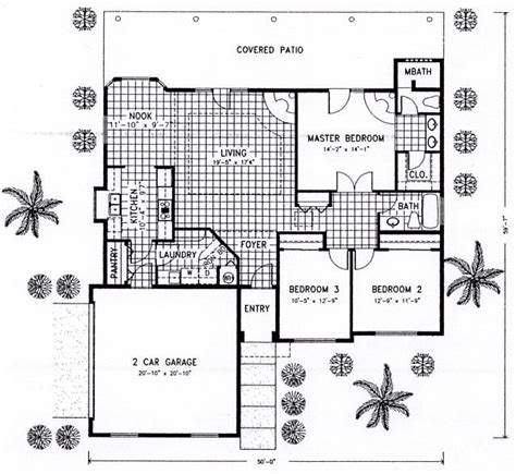 santa fe southwest house plan 54606 first floor plan of santa fe southwest house plan 54606