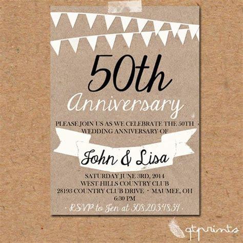 50th anniversary invitations, Anniversary invitations and