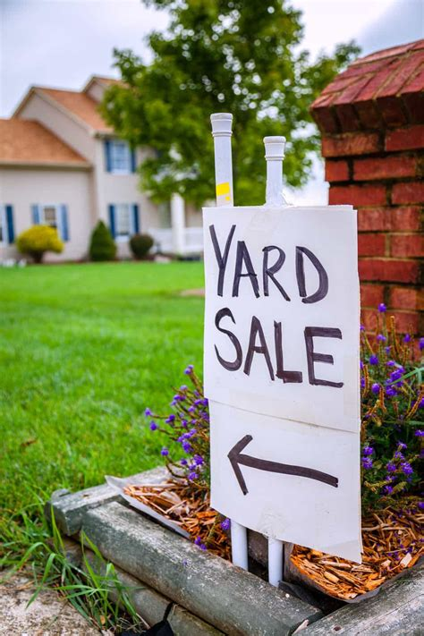 want to a yard sale but don t where to start