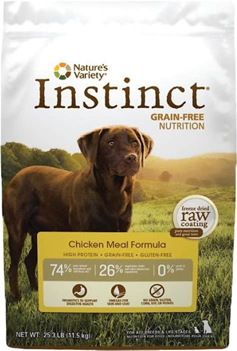 instinct puppy food nature s variety instinct grain free chicken meal formula food 25 3 lb bag