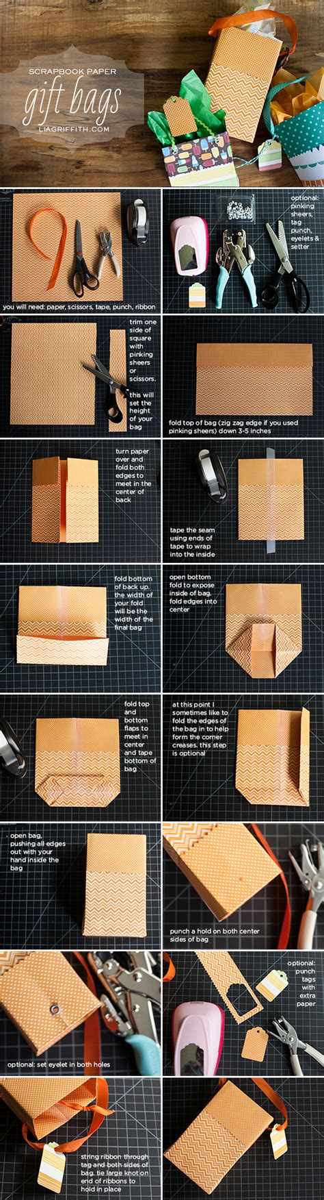 How To Make Presents Out Of Paper - diy paper gift bags shopping bags reuse and scrapbook paper