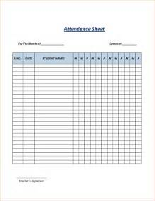 Monthly Class Attendance Template by Search Results For Monthly Attendance Sheet Template