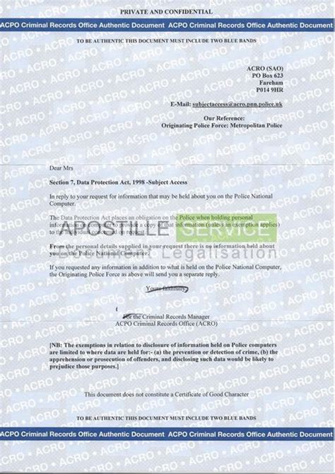 Fbi Certificate Of No Criminal Record Apostille For Criminal Record