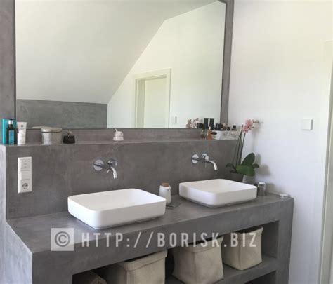 waschtisch selbst gebaut waschtisch selber bauen beton grafffit