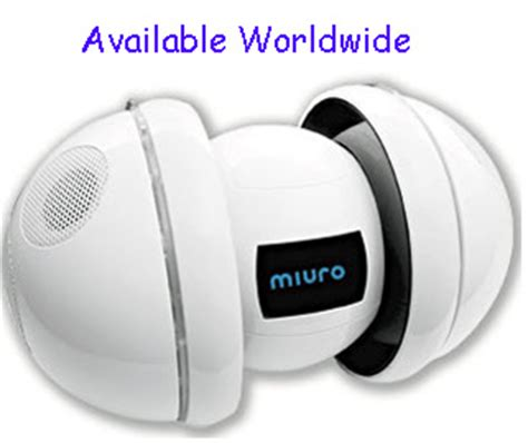 Miuro The Unpredictable Ipod Robot by Zmp Egg Shaped Miuro Robot Ipod Speaker Available