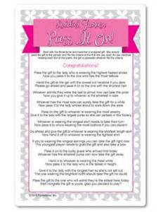 pass the gift bridal shower free printable http