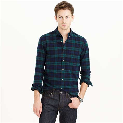 Sweater Merk Uniqlo J Crew Slim Vintage Oxford Shirt In Black Plaid In