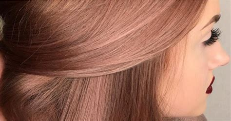 rose gold hair color rose gold hair color inspiration popsugar beauty