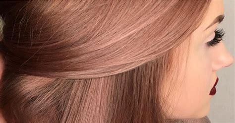 rosegold haircolor rose gold hair color inspiration popsugar beauty
