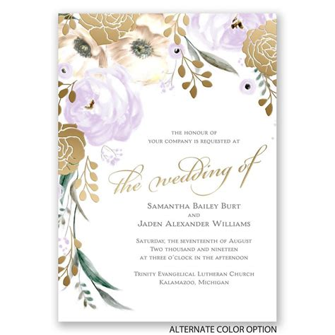 invitations to whimsical gold foil invitations