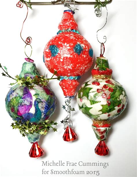 Decoupage Ornaments - decoupage tissue paper ornaments smoothfoam