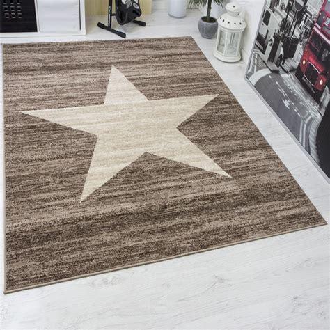 dänische teppiche attuale ragazzi tappeto fantasia a stelle in beige