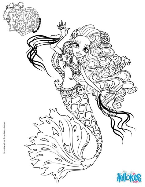 monster high coloring pages pinterest monster high freaky fusion sirena von boo coloring page