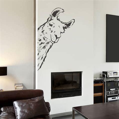 vinyl wall llama vinyl wall sticker by oakdene designs notonthehighstreet