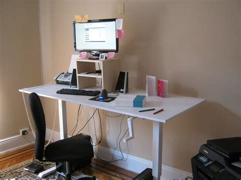 My Standing Desk By Brian M Curran Draftingservices Com Standing Desk Setup