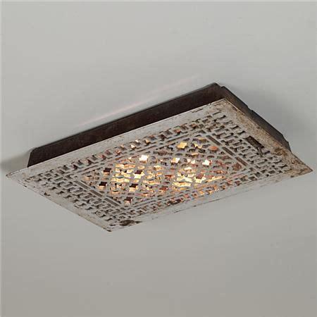 updating flush mount light fixture vintage iron grate flush mount ceiling light i this