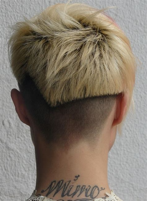back view of womens short hairstyles with clippered back short haircuts for women back view the back view of