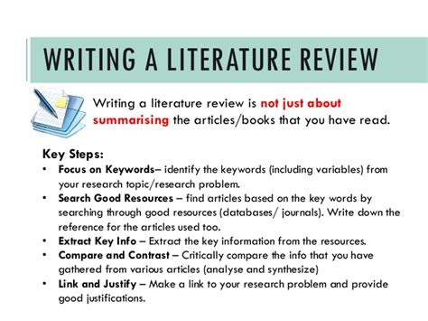 how to write a literature review for a dissertation writing a literature review a guide