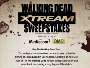 Twd Sweepstakes - mediacom the walking dead sweepstakes