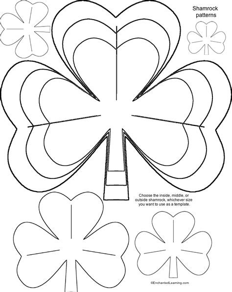 st patrick s day shamrock templates for crafts
