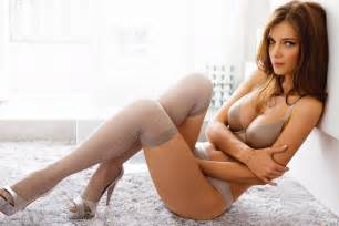 hawt high heels str mpfe lingerie bru te model underwear stockings
