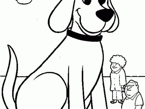coloring pages big dogs clifford the big red dog coloring page printable for